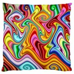 Rainbow Gnarls Standard Flano Cushion Case (one Side) by WolfepawFractals
