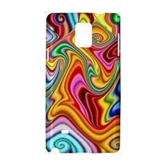 Rainbow Gnarls Samsung Galaxy Note 4 Hardshell Case by WolfepawFractals