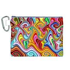 Rainbow Gnarls Canvas Cosmetic Bag (xl) by WolfepawFractals