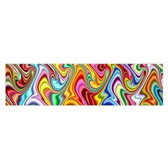 Rainbow Gnarls Satin Scarf (oblong) by WolfepawFractals