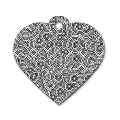 Broken Pattern F Dog Tag Heart (one Side) by MoreColorsinLife