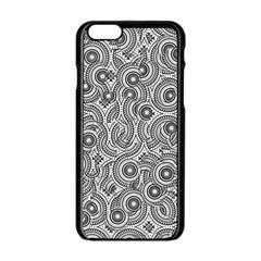 Broken Pattern F Apple Iphone 6/6s Black Enamel Case by MoreColorsinLife