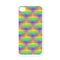 Painted Rainbow Pattern Apple Iphone 4 Case (white) by Brini