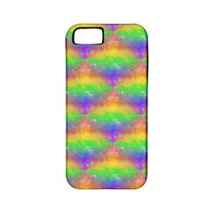 Painted Rainbow Pattern Apple Iphone 5 Classic Hardshell Case (pc+silicone) by Brini