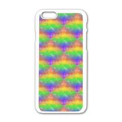 Painted Rainbow Pattern Apple Iphone 6/6s White Enamel Case by Brini