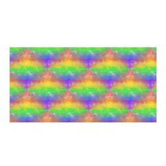 Painted Rainbow Pattern Satin Wrap by Brini