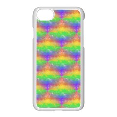 Painted Rainbow Pattern Apple Iphone 7 Seamless Case (white) by Brini