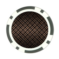 Woven2 Black Marble & Bronze Metal Poker Chip Card Guard by trendistuff