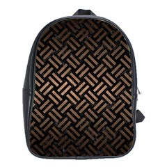 Woven2 Black Marble & Bronze Metal School Bag (xl) by trendistuff
