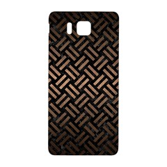 Woven2 Black Marble & Bronze Metal Samsung Galaxy Alpha Hardshell Back Case by trendistuff