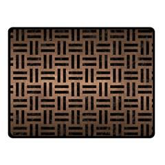 Woven1 Black Marble & Bronze Metal (r) Fleece Blanket (small) by trendistuff