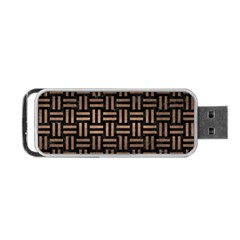 Woven1 Black Marble & Bronze Metal Portable Usb Flash (two Sides) by trendistuff