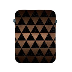 Triangle3 Black Marble & Bronze Metal Apple Ipad 2/3/4 Protective Soft Case by trendistuff