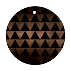 Triangle2 Black Marble & Bronze Metal Ornament (round) by trendistuff