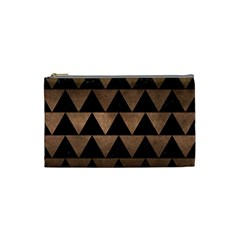 Triangle2 Black Marble & Bronze Metal Cosmetic Bag (small) by trendistuff