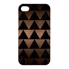 Triangle2 Black Marble & Bronze Metal Apple Iphone 4/4s Premium Hardshell Case by trendistuff