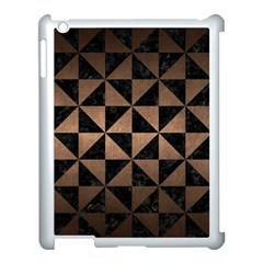 Triangle1 Black Marble & Bronze Metal Apple Ipad 3/4 Case (white) by trendistuff