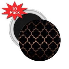 Tile1 Black Marble & Bronze Metal 2 25  Magnet (10 Pack) by trendistuff