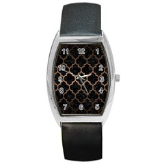 Tile1 Black Marble & Bronze Metal Barrel Style Metal Watch by trendistuff