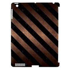 Stripes3 Black Marble & Bronze Metal (r) Apple Ipad 3/4 Hardshell Case (compatible With Smart Cover) by trendistuff