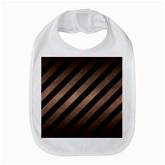 Stripes3 Black Marble & Bronze Metal Bib by trendistuff