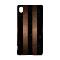 Stripes1 Black Marble & Bronze Metal Sony Xperia Z3+ Hardshell Case by trendistuff