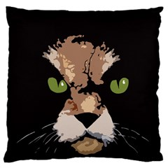 Cat  Large Cushion Case (one Side) by Valentinaart