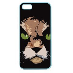 Cat  Apple Seamless Iphone 5 Case (color) by Valentinaart