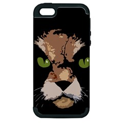 Cat  Apple Iphone 5 Hardshell Case (pc+silicone) by Valentinaart