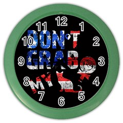 Dont Grab My Color Wall Clocks by Valentinaart