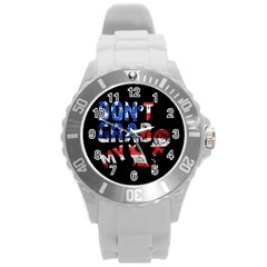 Dont Grab My Round Plastic Sport Watch (l) by Valentinaart
