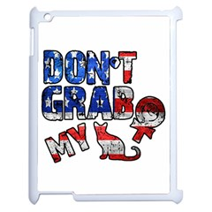 Dont Grab My Apple Ipad 2 Case (white) by Valentinaart