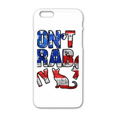 Dont Grab My Apple Iphone 6/6s White Enamel Case by Valentinaart