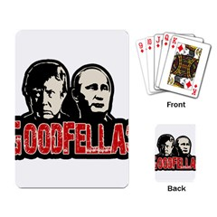 Goodfellas Putin And Trump Playing Card by Valentinaart