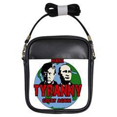 Make Tyranny Great Again Girls Sling Bags by Valentinaart