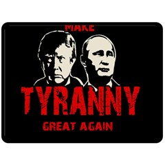 Make Tyranny Great Again Fleece Blanket (large)  by Valentinaart