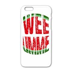 Watermelon   Sweet Summer Apple Iphone 6/6s White Enamel Case by Valentinaart