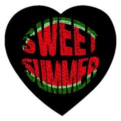Watermelon   Sweet Summer Jigsaw Puzzle (heart) by Valentinaart