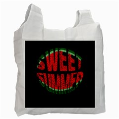 Watermelon   Sweet Summer Recycle Bag (one Side) by Valentinaart