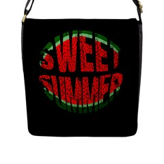 Watermelon   Sweet Summer Flap Messenger Bag (l)  by Valentinaart