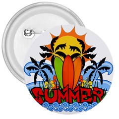 Tropical Summer 3  Buttons by Valentinaart