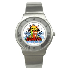 Tropical Summer Stainless Steel Watch by Valentinaart