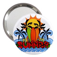 Tropical Summer 3  Handbag Mirrors by Valentinaart