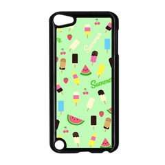 Summer Pattern Apple Ipod Touch 5 Case (black) by Valentinaart