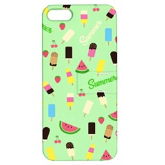 Summer Pattern Apple Iphone 5 Hardshell Case With Stand by Valentinaart