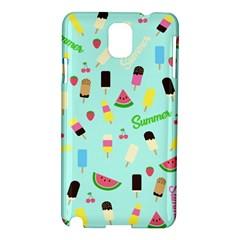 Summer Pattern Samsung Galaxy Note 3 N9005 Hardshell Case by Valentinaart