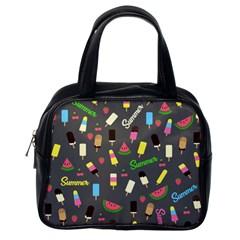 Summer Pattern Classic Handbags (one Side) by Valentinaart