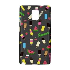 Summer Pattern Samsung Galaxy Note 4 Hardshell Case by Valentinaart