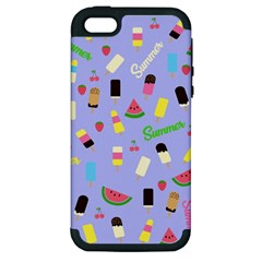 Summer Pattern Apple Iphone 5 Hardshell Case (pc+silicone) by Valentinaart
