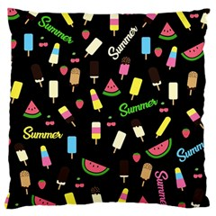 Summer Pattern Large Cushion Case (one Side) by Valentinaart